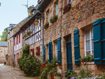 Street old Breton town Treguier, France Stock Photography