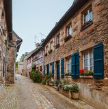 Street old Breton town Treguier, France Stock Image