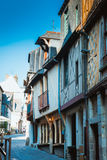 Street old Breton town Vitre, France Royalty Free Stock Images