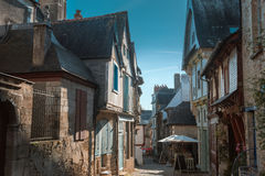 Street old Breton town Vitre, France Royalty Free Stock Image