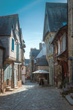 Street old Breton town Vitre, France Royalty Free Stock Photos