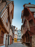 Street old Breton town Vitre, France Stock Photography