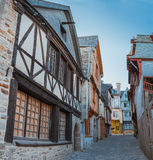 Street old Breton town Vitre, France Stock Images
