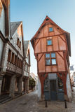 Street old Breton town Vitre, France Stock Image