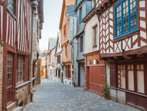 Street old Breton town Vitre, France Royalty Free Stock Photography