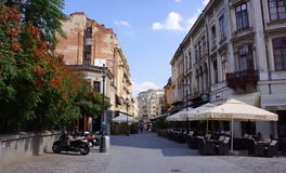 Street in Old Bucharest Stock Image