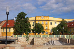 Street with old buildings Eger Stock Photography