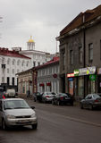 Street with old buildings Royalty Free Stock Photo