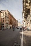 Street and old buildings in Rome royalty free stock photo