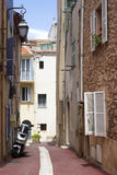 The street of old Cannes, French Riviera Royalty Free Stock Photography