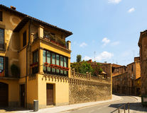 Street of of old Catalan town. Vic Royalty Free Stock Images