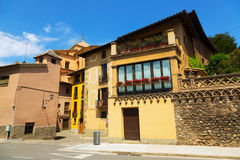 Street of old Catalan town. Vic Stock Photo