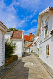 Street in old centre of Stavanger - Norway Stock Photography