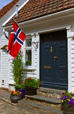 Street in old centre of Stavanger - Norway Royalty Free Stock Photo
