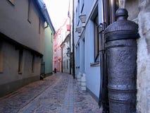 Street of old city. Riga. Latvia Royalty Free Stock Photos