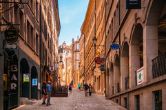 Street in old city of Geneva, Switzerland Royalty Free Stock Image