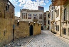 Street in Old city, Icheri Shehe. Baku Royalty Free Stock Images