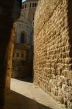 A street in the old city jerusalem. Via dolorosa - the last jesus way in jerusalem Royalty Free Stock Images