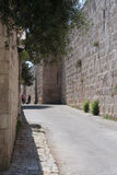 Street in the old city of Jeruslaem Stock Photo