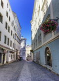 Street in old city, Linz, Austria Royalty Free Stock Images