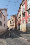 Street in old city of Lisbon Royalty Free Stock Photography