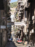 Street in old city of Naples, Italy Stock Photo