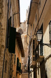 Street in the old city of Palma de Majorca Stock Photo