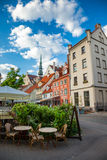 Street in old city Riga, Latvia Royalty Free Stock Photos