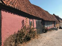 Street with old danish houses Royalty Free Stock Photo