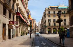 Street in old district. Alicante, Spain Stock Photos
