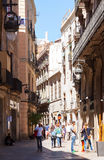 Street in old European city - Gothic Quarter.  Barcelona Stock Image