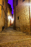 Street of old european city in night. Toledo Royalty Free Stock Photos