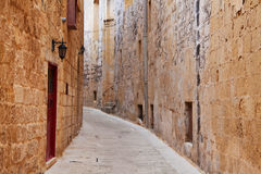 Street in an old European town. (Mdina, Malta Stock Photos