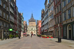 Street in old Gdansk Stock Image