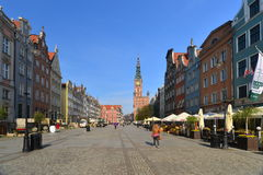 Street in old Gdansk Royalty Free Stock Image