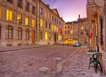 Street in old Geneva, Switzerland(HDR) Stock Images