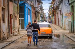 Street in the old historical part of the Cuban capital stock photography