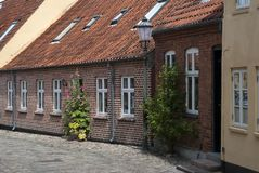 Street with old houses Royalty Free Stock Image