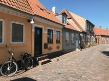 Street with old houses, Denmark Royalty Free Stock Images