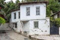 Street and old houses in old town of Xanthi, East Macedonia and Thrace, Greece Stock Photos