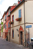 Street with old houses Rimini Stock Photography
