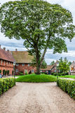 Street with old houses from royal town Ribe in Denmark Royalty Free Stock Images