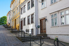 Street with old houses Stock Images