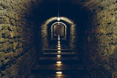 Tunel in Old Ibiza Stock Image