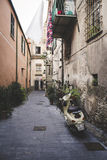 The street of the old Italian city Finalborgo Stock Photos