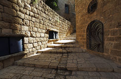 Street of old Jaffa Royalty Free Stock Images