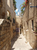 The street of Old Jaffa stock photography