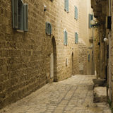 The street of Old Jaffa in Israel. Royalty Free Stock Image