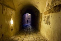Street in Old Jaffa port. Royalty Free Stock Images