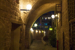 Street in Old Jaffa port. Royalty Free Stock Photo